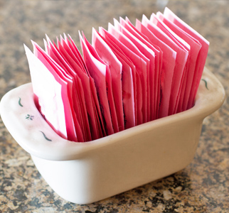Packets of artificial sweetener